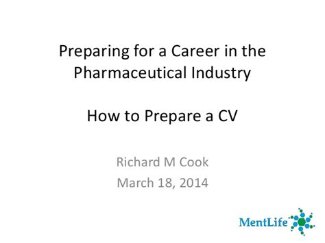 preparing for a career in pharma industry how to prepare