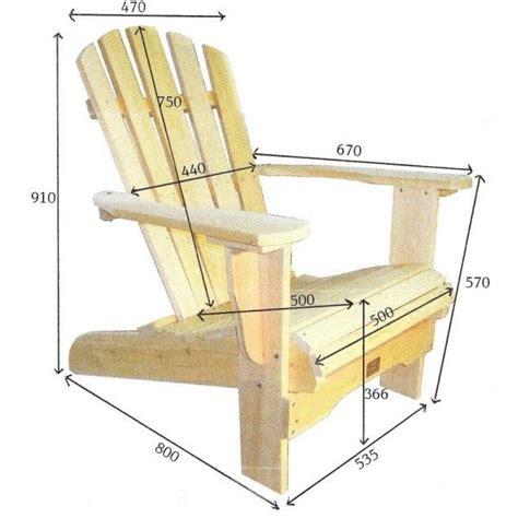 plan de chaise en bois gratuit plan de chaise adirondack gratuit uteyo