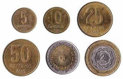 Argentine Peso Coins Currency Argentina Pesos Cash