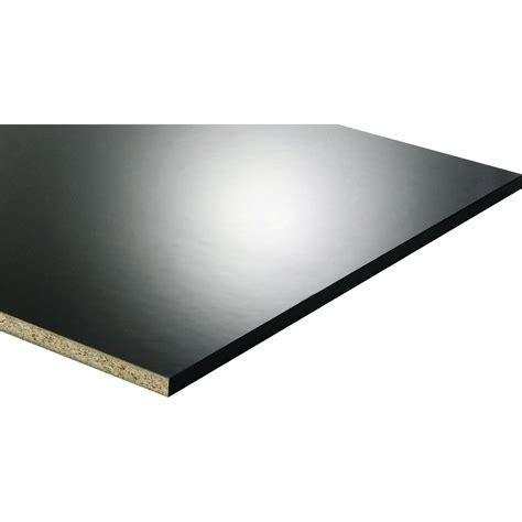 peinture carrelage cuisine castorama tablette mélaminé glossy noir l 250 x l 60 cm x ep 18 mm