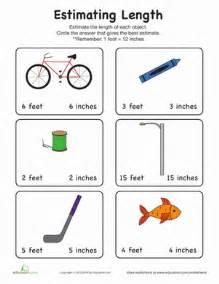 math workbooks for 2nd grade estimate length worksheet education