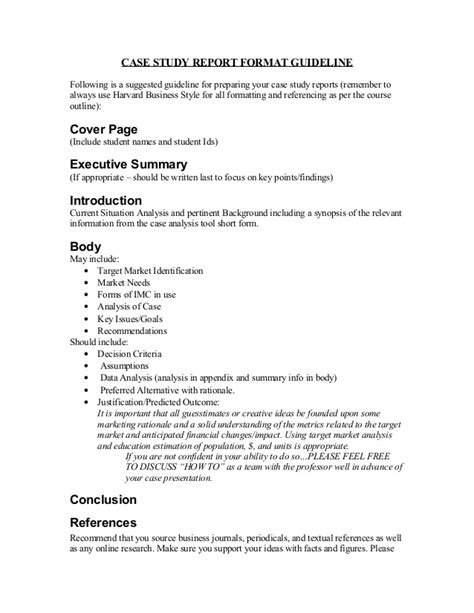 Template For Writing A Study by Study Report Format Guideline