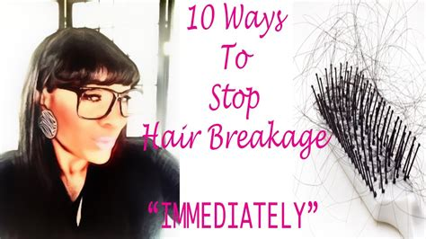stop shedding hair 10 ways to stop hair breakage quot immediately quot
