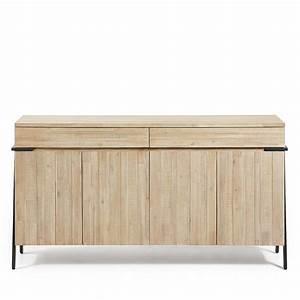Buffet Bois Massif : buffet design bois massif et m tal 2 tiroirs 4 portes spike by drawer ~ Teatrodelosmanantiales.com Idées de Décoration