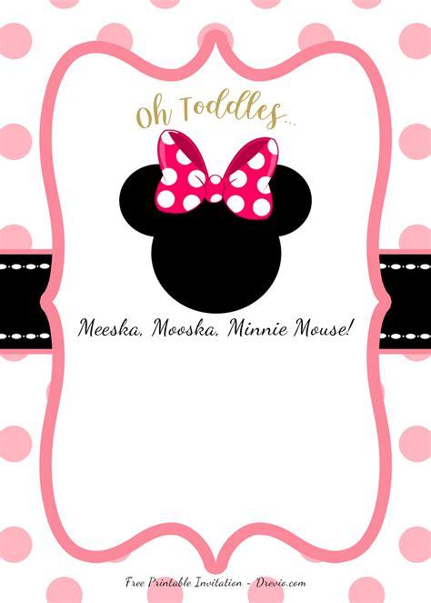 minnie mouse head invitation templates bagvania