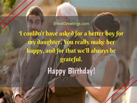 birthday wishes  son  law perfect gesture  show love
