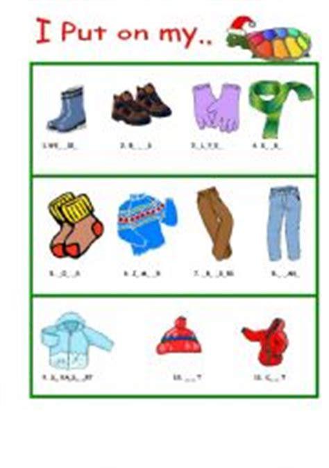 winter clothes esl worksheet  worldsdiamond