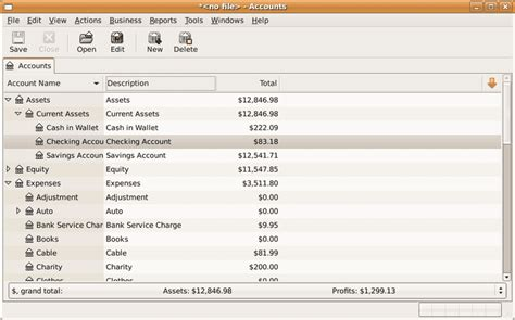 review  gnucash  personal finance software