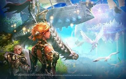 Lineage Fantasy Wallpapers Rpg Gracia Games Px
