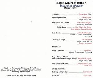brian degayner eagle court of honor program troop 494 With eagle scout court of honor program template