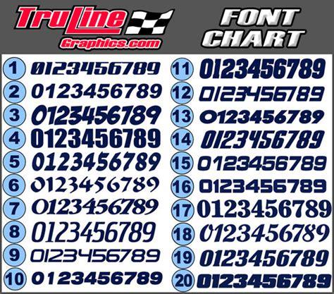 race car numbers  color vinyl number kit truline