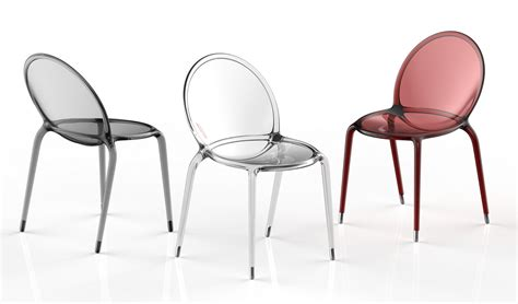 roche bobois chaises stackable polycarbonate chair loop by roche bobois design