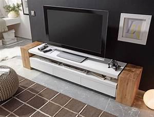 Tv Lowboard Mit Tv Halterung : lowboard juno ii 200x40x40 cm wei eiche tv board tv m bel ~ Michelbontemps.com Haus und Dekorationen