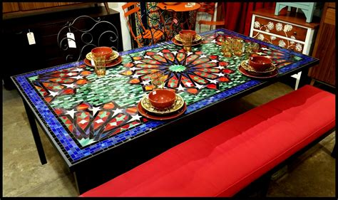 mosaic tables on mosaic table tops mosaics