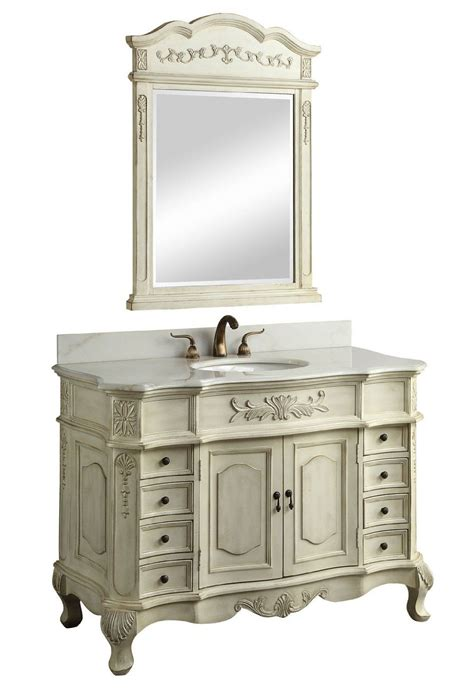 Inch Bathroom Vanity by Adelina 42 Inch Antique White Bathroom Vanity Fully