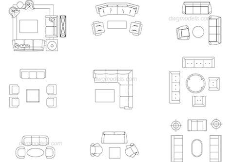 furniture living room  dwg  cad blocks