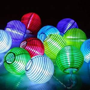 Solar Lichterkette Lampions : led lampion lichterkette 12 lampions in 6 farben zum online shop ~ Buech-reservation.com Haus und Dekorationen
