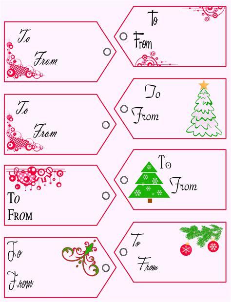 Gift Tag Template Free Printable Tags Templates Gift Tags
