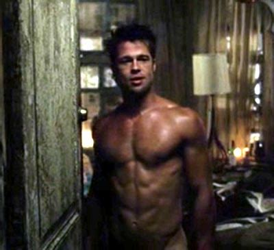 latest hollywood hottest wallpapers brad pitt fight club body
