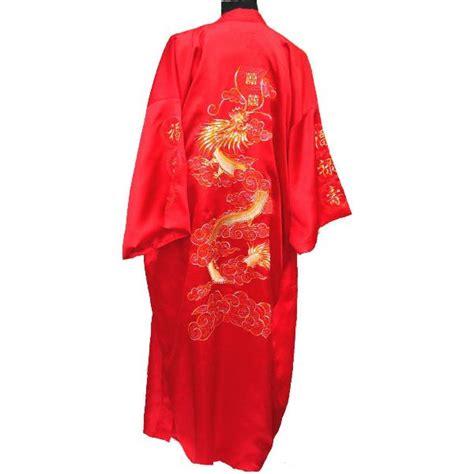 robe de chambre asiatique kimono en soie