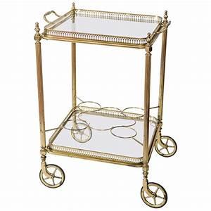 Vintage French Brass Bar Cartdrinks Trolley At 1stdibs