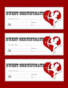 Valentine Gift Certificate Template Free Download Images Certificate Design And Template