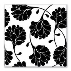 Black and White Floral Canvas Art