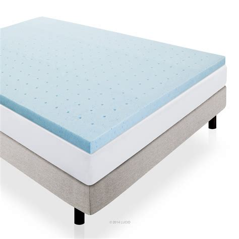 memory foam lucid 2 inch gel infused ventilated memory foam mattress