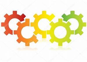 Diagrama Los Engranajes Coloridos Diagrama Los Procesos