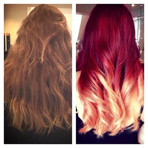red  blonde ombre  jody lee salons direct
