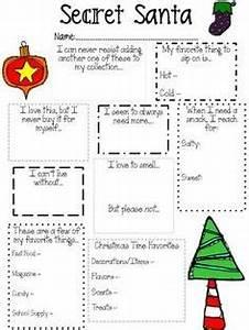 1000 ideas about Secret Santa Questionnaire on Pinterest