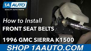 How To Remove Reinstall Front Seat Belts 1996 Extended Cab