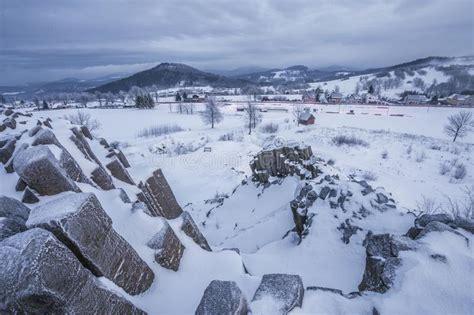 basalt formation stock image image  rock basalt