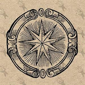 Vintage Image Star Alchemical Symbol Retro Drawing Picture Instant Download Printable Clipart