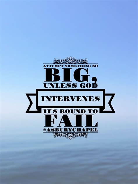attempt   big  god intervenes