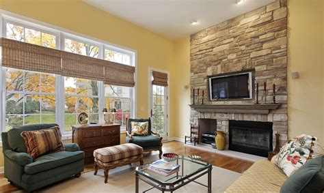 small family room  tv  fireplace fireplace design