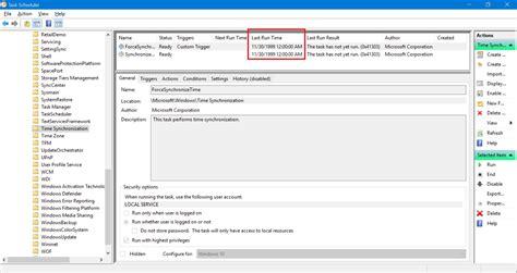 synchronize clock   internet time server  windows