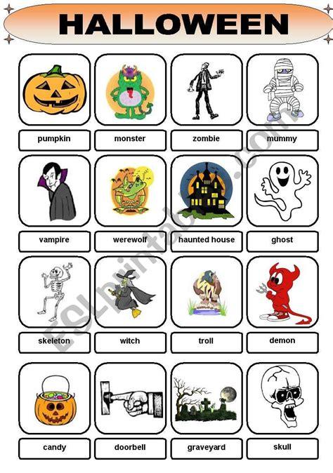 Halloween Vocabulary  Esl Worksheet By Brentdws