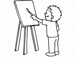 Staffelei Für Kinder : kostenlose malvorlage schule sch ler im kunstunterricht zum ausmalen ~ Buech-reservation.com Haus und Dekorationen