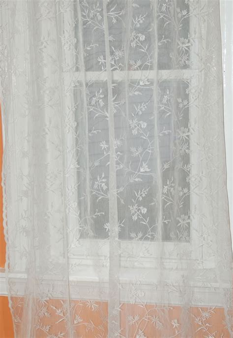 pin lace curtains cotton curtain panels country on