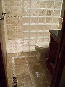 impressive glass block shower decorating ideas With walk in shower designs for small bathrooms