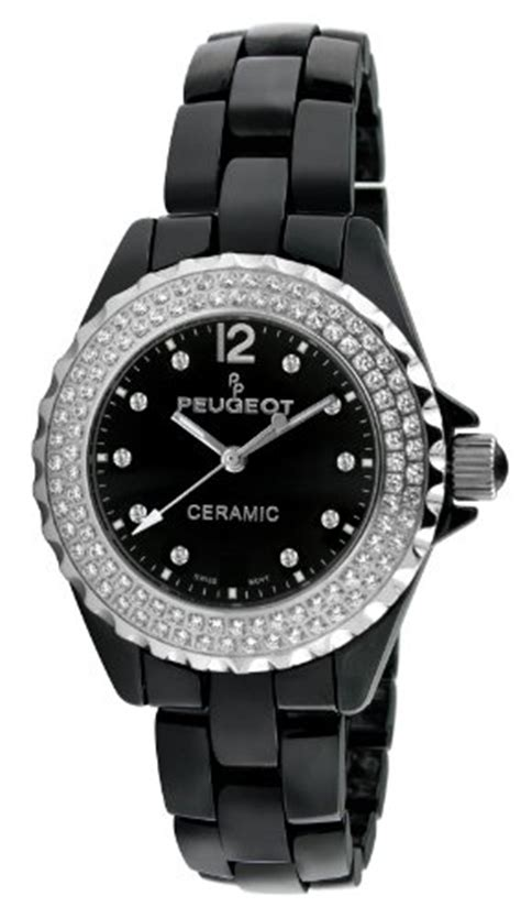 Peugeot Watches Prices by Peugeot S Ps4892bs Swiss Ceramic Swarovski