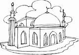 Coloring Pages Masjid Eid Mosque Mubarak Colouring Printable Getcolorings Info sketch template