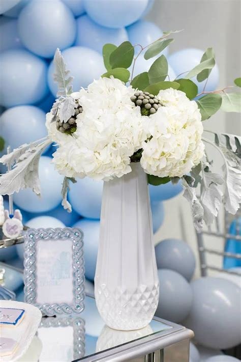 Karas Party Ideas Silver Blue Elephant  Ee  Baby Ee    Ee  Shower Ee