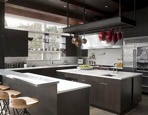 industrial kitchen cabinets Kitchen Modern with appliances ...