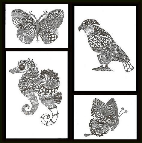 zentangle animal teaching zentangles doodles