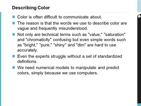 how to describe colors color management for production printing ppt