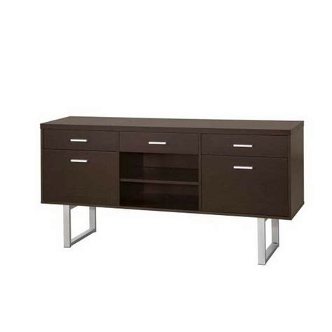 home office collections credenza credenza cappuccino