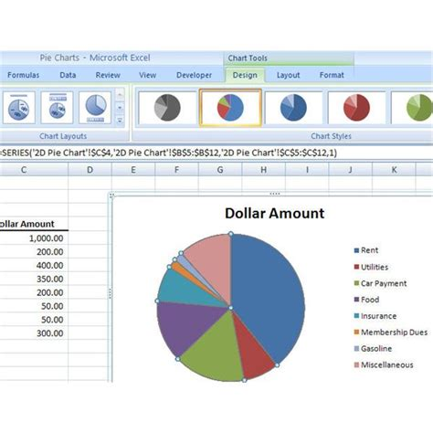 create  basic pie chart  microsoft excel