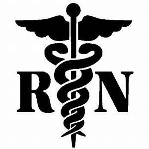 Amazon.com: Caduceus Registered Nurse RN White Decal ...